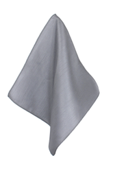 Silver Satin Textured Poly Handkerchief