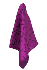 Classic Purple Silk Leaf Handkerchief