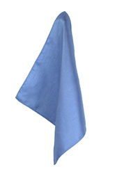 Manor Blue Poly Dupion Handkerchief