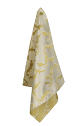 Light Gold Feather Handkerchief