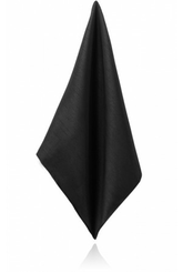 Black Poly Dupion Handkerchief