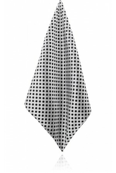 White/Black Polka Dot Silk Handkerchief