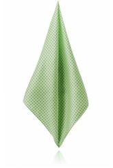 Lime Green With Navy Blue & White Dots Handkerchief