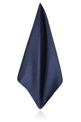 Navy Blue Leaf Handkerchief