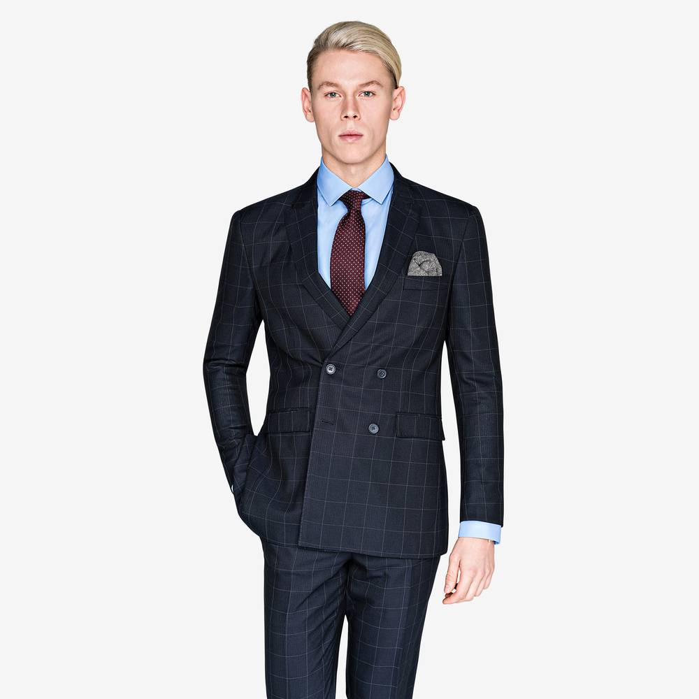 Charles Black Window Check Suit | Suitopia